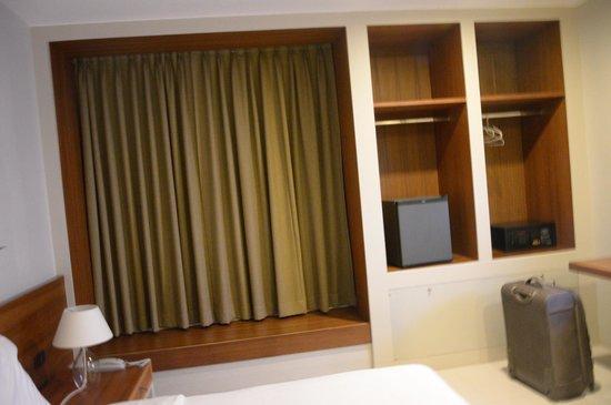 Chern Hostel: The fridge and wardrobe