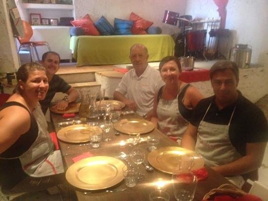 Convivio Rome Italian One Day Cooking Holidays : our Family (plus Guido)!