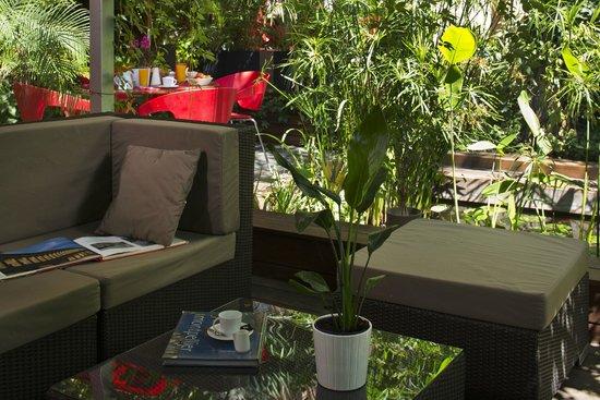 Hotel des Arceaux: Salon lounge