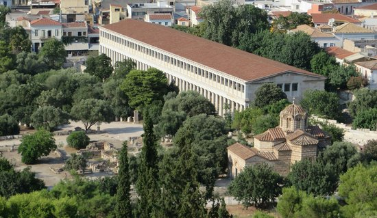 Ancient Agora of Athens: Agora Museum from above