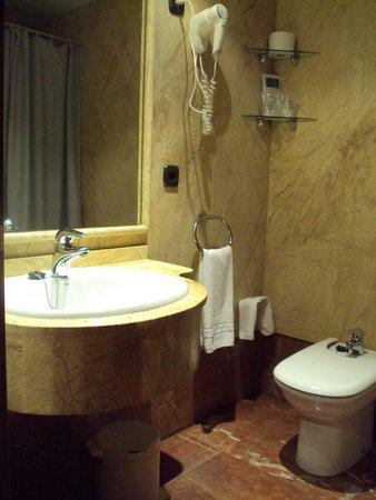 Bierzo Plaza : Baño de habitación doble estándar.