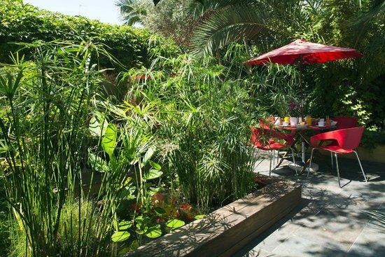 Hotel des Arceaux : Jardin zen et ombragé