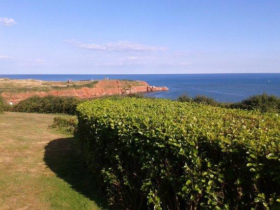 Devon Cliffs Holiday Park - Haven: Outside our caravan