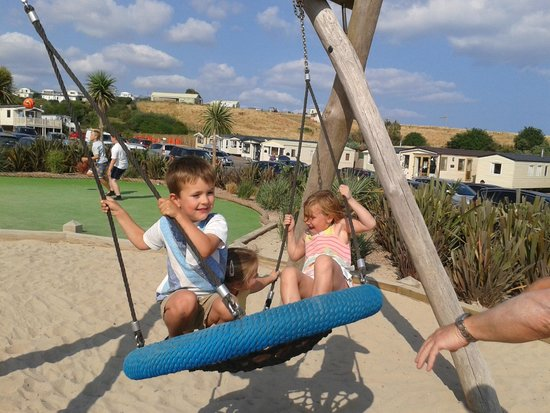Devon Cliffs Holiday Park - Haven: Play area by the beach