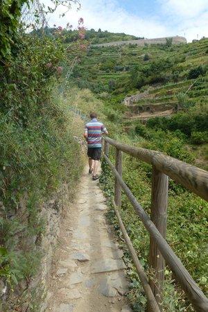 Footpath Monterosso - Vernazza: de pas tussen Monterosso en Vernazza