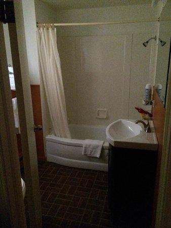 Clark's Motel: Full View of bathroom