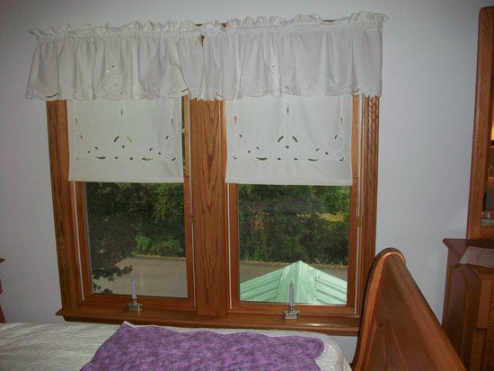 Contented Acres Bed & Breakfast: Window in bedroom