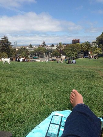 Mission Dolores Park: Relax! Nice view of the city, near Bi-Rite and Java Supreme for nice lunch and coffee to go...fo