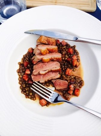 Craig Millar @ 16 West End: Duck with lentils and chorizo