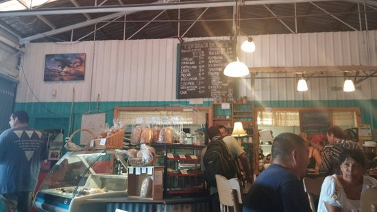 Tin Shack Bakery: Tin Shack menu and front counter