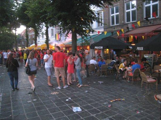 'T Zand: Favourite area for celebrations