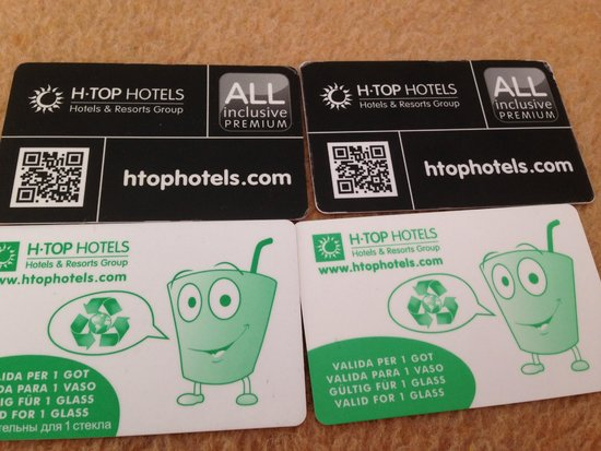 H TOP Royal Star & SPA: cartes all inclusive, a avoir TOUT LE TEMPS sur soi