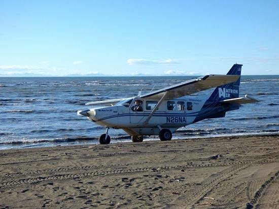 Silver Salmon Creek Lodge: transport on the runway