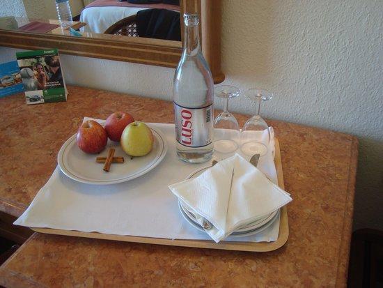 Dom Pedro Golf Resort: lanchinho na chegada