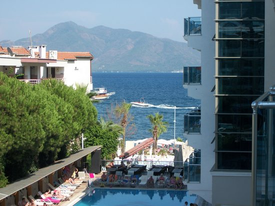 View from room at the Emre Beach Hotel