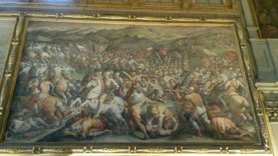 Museo di Palazzo Vecchio : Battaglia di Marciano - Vasari
