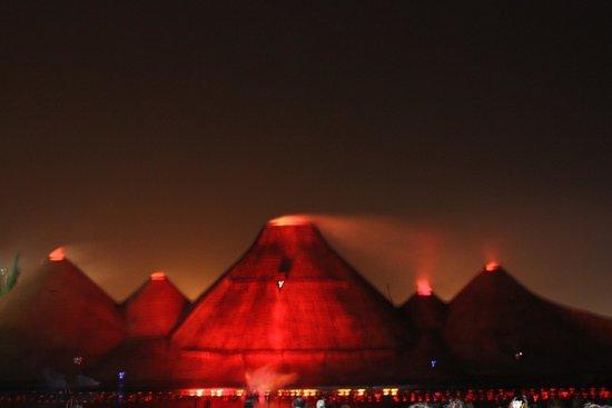 Magic Dancing Waters Show: В финале - извержение вулканов!