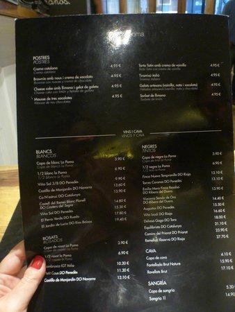 Restaurant La Poma: cardápio la poma