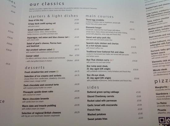 Novotel Sheffield Centre : idea of food they sell