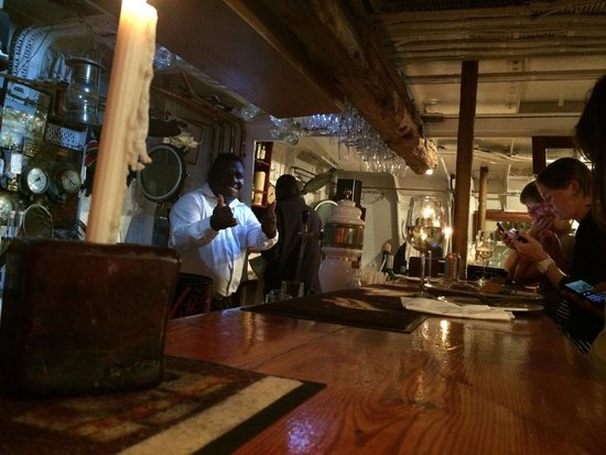 The Tug: Lots of nice people working in the bar. If you haven't booked table and this place is just the b