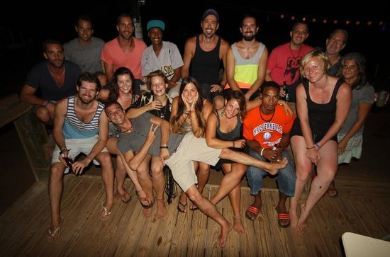 Tranquilo Cafe: Groups of divers and special friends