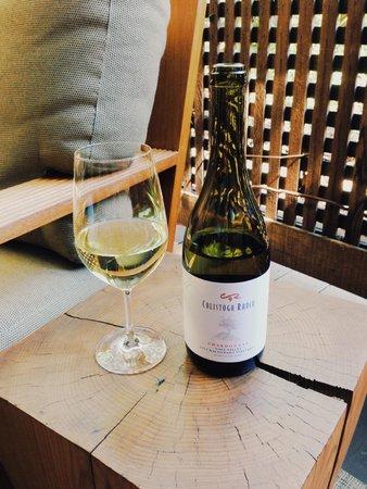 Calistoga Ranch, An Auberge Resort: Complimentary Chardonnay