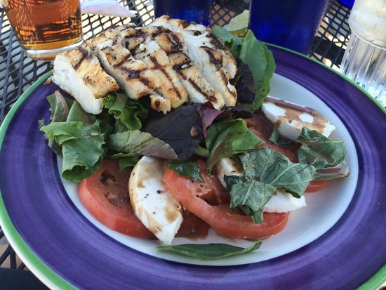 Iron Horse Bar & Grill: Caprese salad with added grilled chicken - it was delicious!!