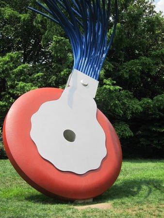 National Gallery of Art - Sculpture Garden: Typewriter Brush Eraser Sculpture.  Our daughter had NO idea what it was!