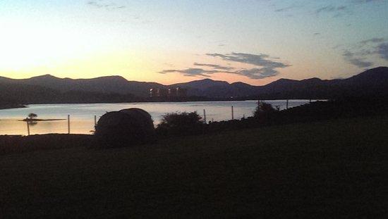 Cae Adda: view from campsite.