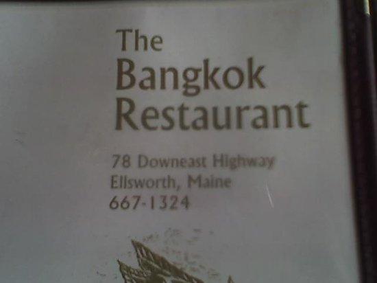 Bangkok Restaurant: Menu