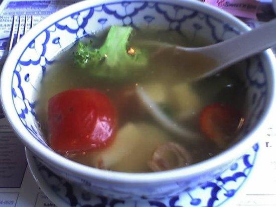 Bangkok Restaurant: Vegetable soup