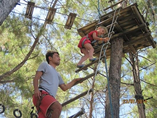 Grand Yazici Club Marmaris Palace: high ropes at hotel