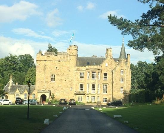 Carberry Tower Mansion House and Estate : view from the driveway