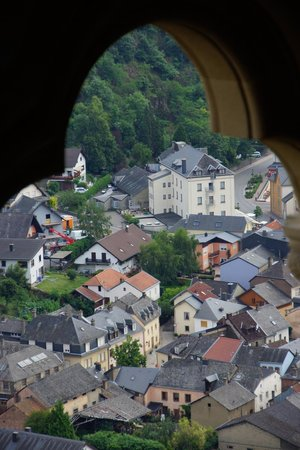 Chateau de Vianden: A view of the city from the Chateu