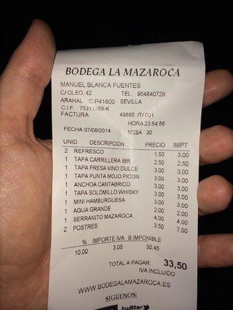 Bodega la Mazaroca: Gran relación calidad-precio!