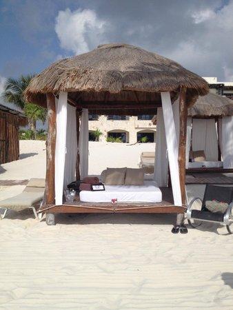 Secrets Maroma Beach Riviera Cancun: Private Beach Cabana on our last full day