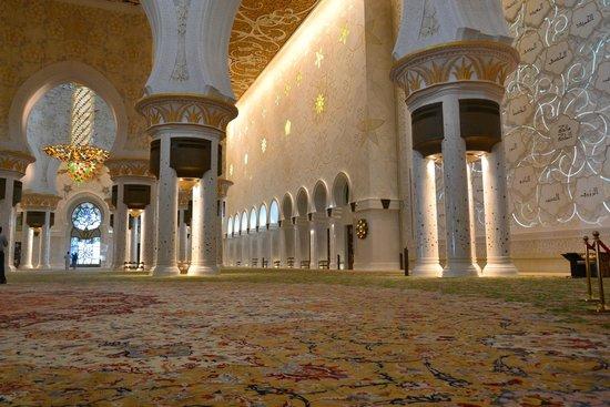 Scheich-Zayid-Moschee: tapete interno com 5000 m2 sem emendas!