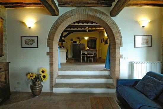 cucina e salotto appartamento Cantina - Picture of Agriturismo I ...