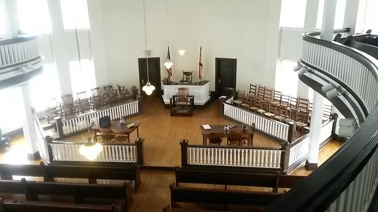 Old Monroe County Courthouse and Heritage Museum: The Courtroom