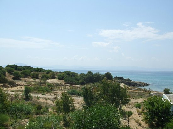 Grecotel Olympia Oasis: Looking SW from my room towards Zante