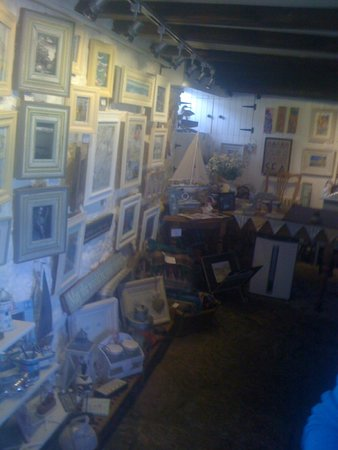 Crail Harbour Gallery: pots and pics for sale