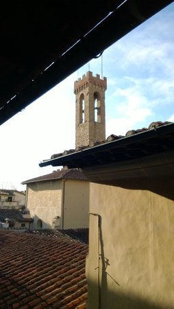 Sani Tourist House: Campanario y tejados desde la ventana de la habitación
