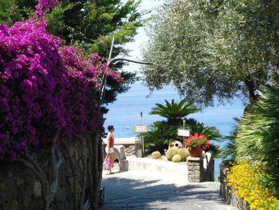 Park Hotel Terme Mediterraneo: дорога на пляж читара