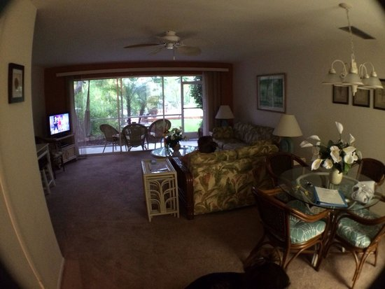 Beach Road Villas Living Room Area Driftwood