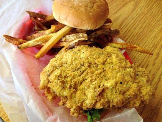 D & D Cafe: Chicken on the Chicken Fried Chicken Sandwich