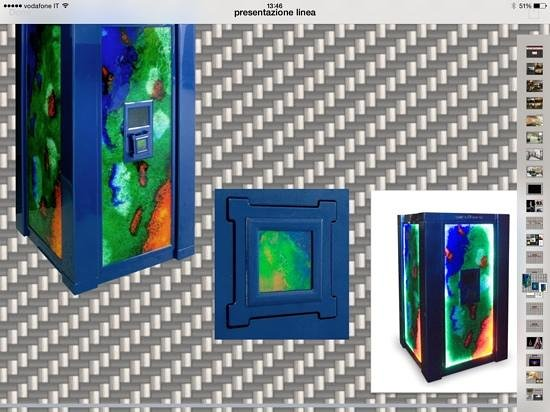 Linea Murano Art Srl : Murano Glass Safe -Ammolite Design 2009