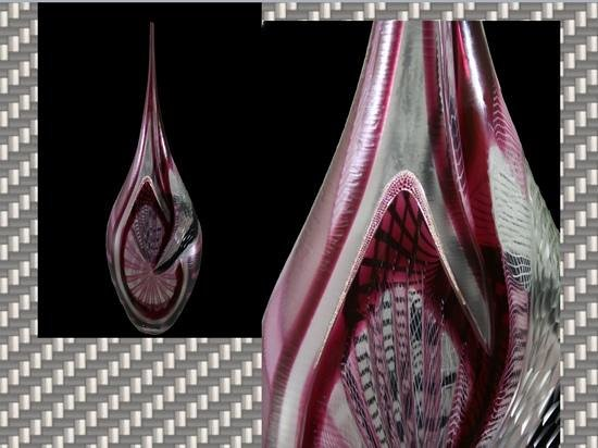 Linea Murano Art Srl : Murano Glass Vase with rubies and Diamonds mounted. Jewels and Glass for the first time together