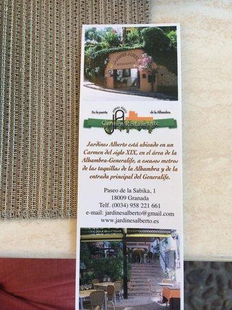 Restaurante Jardines Alberto: Jardines Alberto