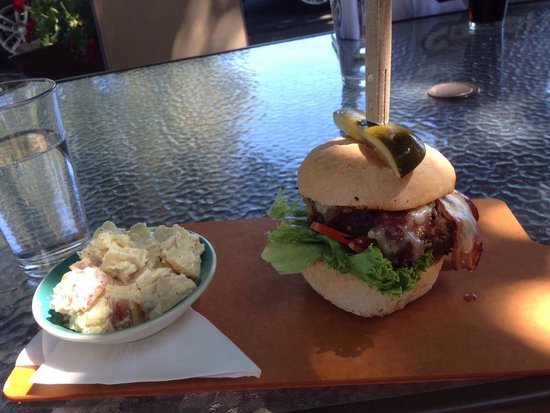 The Yellow Church Cafe : Bison burger with bacon