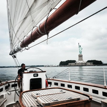Classic Harbor Line: View of the Statue of Liberty